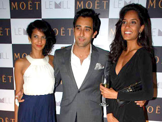Rahul Khanna, Poorna and Lisa at Moet & Chandon's valentine evening images,photos