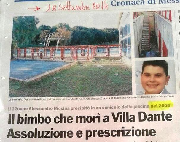 IN MEMORIA DI ALESSANDRO, SALVIAMO VILLA DANTE