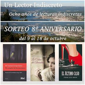 Sorteo Aniversario en Blog Un Lector Indiscreto.