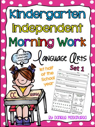 https://www.teacherspayteachers.com/Product/Kindergarten-Independent-Morning-Work-60-Pages-LA-Set-1-CC-Aligned-1281555