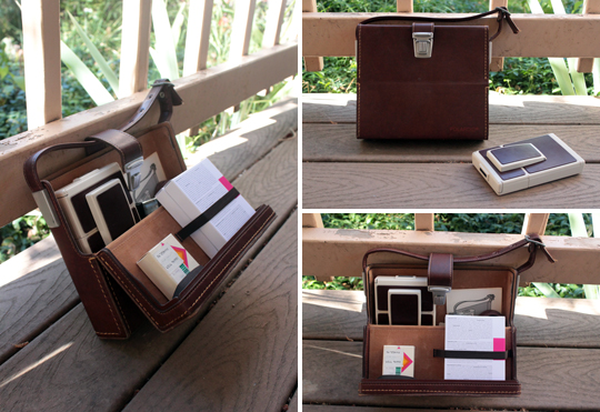 Polaroid SX-70 in its case with accessories