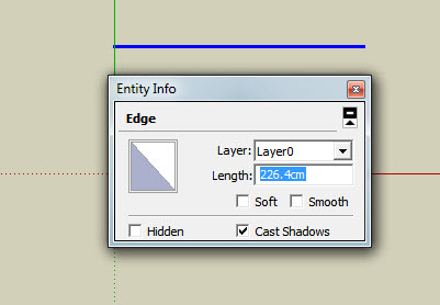 how to show length on google sketch up