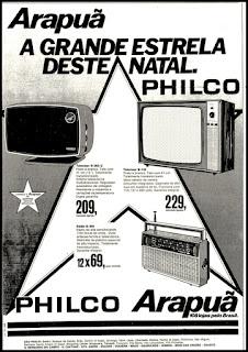 propaganda Lojas Arapuã - 1977; os anos 70; propaganda na década de 70; Brazil in the 70s, história anos 70; Oswaldo Hernandez;