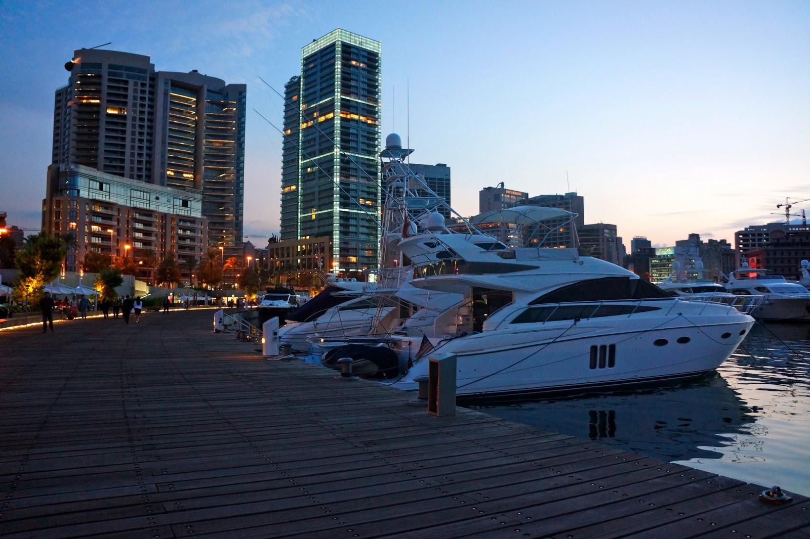 Picture of Zaitunay Bay in Beirut, Lebanon.