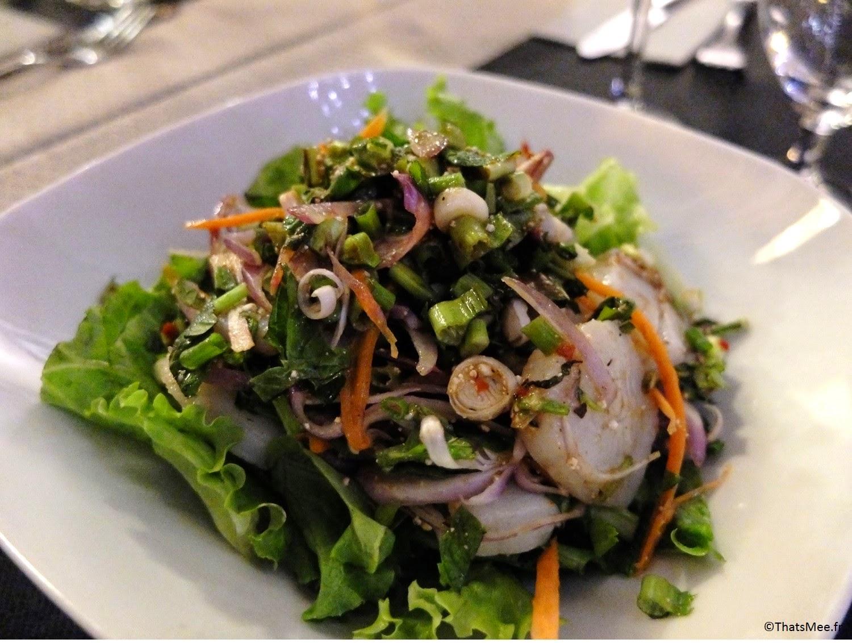 Thai Spices resto Cantine Thaï Paris salade noix de saint hacques coriandre basilic