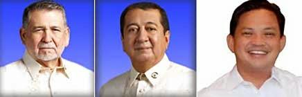 Congressman Fernando Gonzales, Congressman Al Francis Bichara and Mayor Noel Rosal