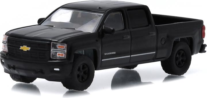 Greenlight 2015 Chevy Siverado 1500 Truck Black Bandit 1//64 Die Cast