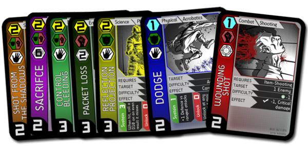 Neon Sanctum RPG action cards