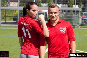 Xherdan Shaqiri with Girlfriend