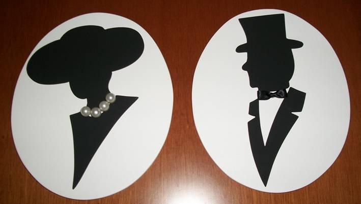 Antonela Artesanato Placa Banheiro Feminino e Masculino -> Logotipo Banheiro Feminino