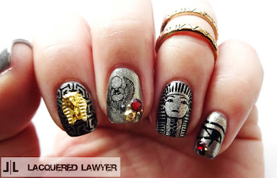 Egyptian Nails - Lacquered Lawyer Nail Art Blog: Ancient Egypt
