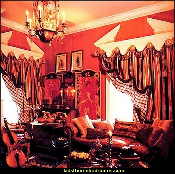 French Bordello Boudoir Style Victorian Bedroom Decorating Ideas