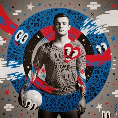 El Arte del fútbol Hattie Stewart y Danny Clinch para Pepsi con Jack Wilshere