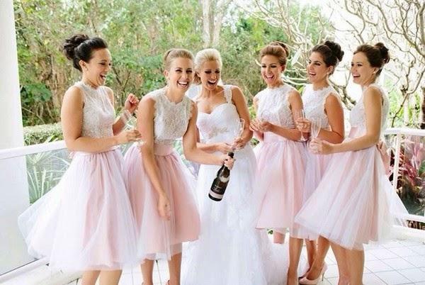 Wedding Elegant Bridesmaid Dresses 2014