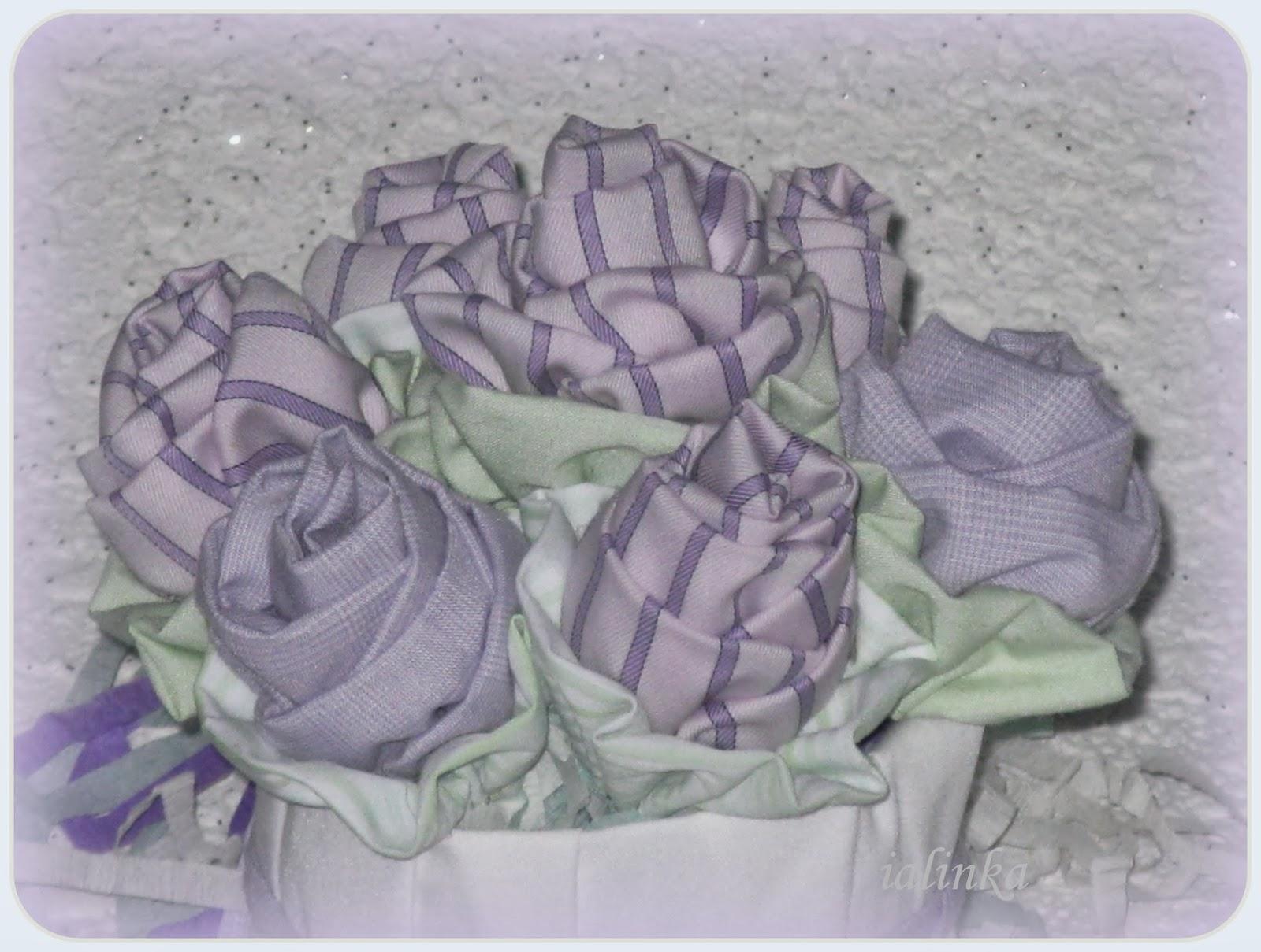 цветы своими  руками  из  ткани