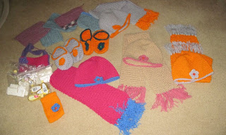 hats, scarves for the homeless