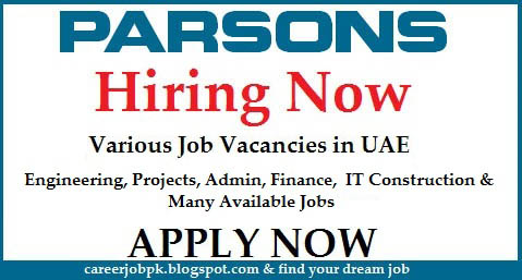 Parsons International jobs in Abu Dhabi 2016