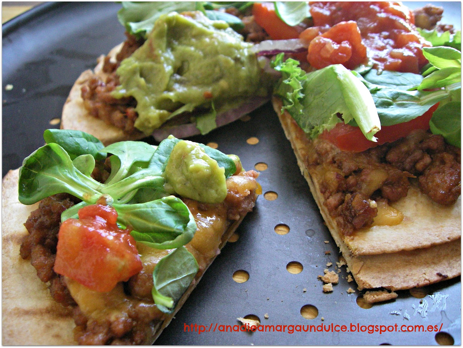 Taco Quesadilla Pizzas Recipe — Dishmaps