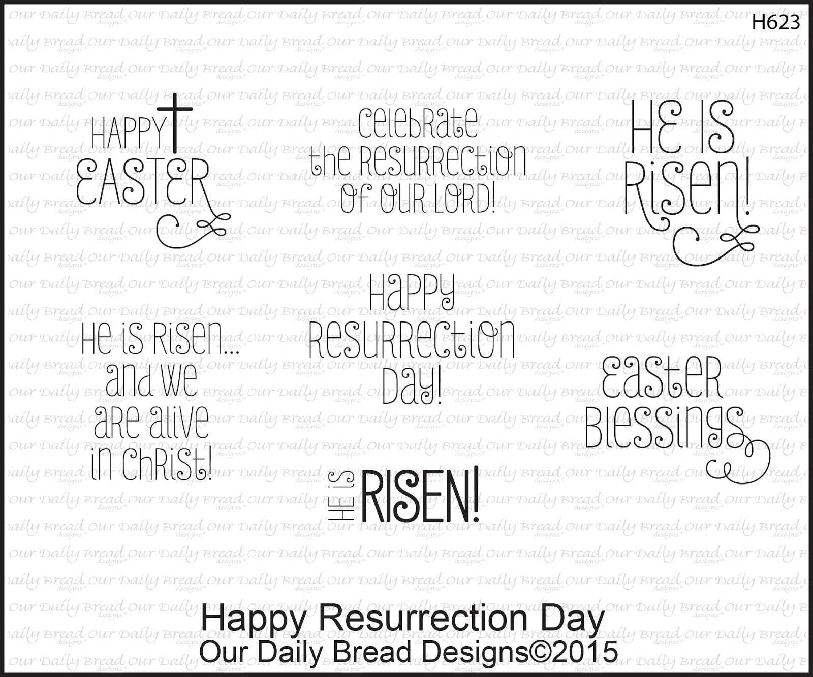 Stamps - Our Daily Bread Designs Happy Resurrection Day
