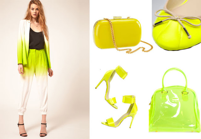 neon, neon yellow,fashion trends,trends,candy bag furla,cambridge satchel bag, neon yellow cambridge satchel bag,asos ombre suit,neon shoes,diy,christopher kane,cistopher kane neon bag,
