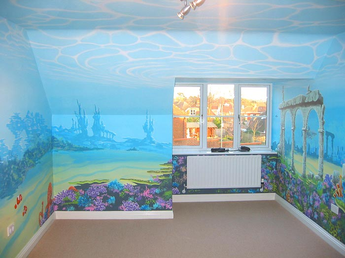 wall decal quotes wall mural ideas for kids under the sea. Black Bedroom Furniture Sets. Home Design Ideas