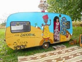 Caroline et sa caravane atelier