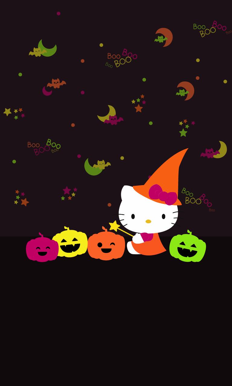 Ff2db9 hello 640 1 136 pixels hello kitty pinterest hello kitty wallpaper kitty - Hello kitty halloween ...