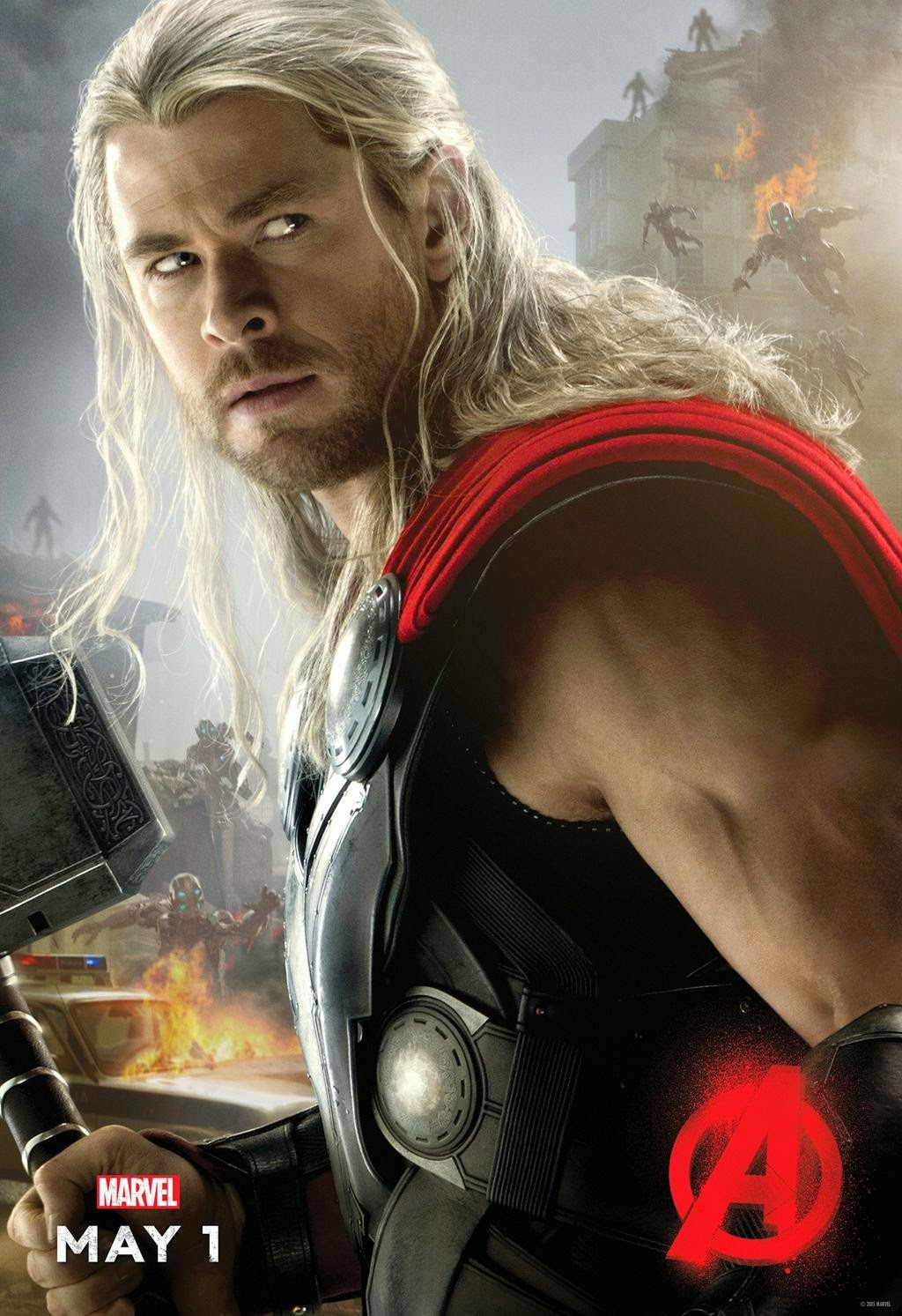 Marvel's Avengers Age of Ultron Character Movie Poster Set - Chris Hemsworth as Thor