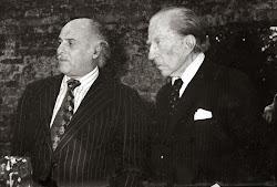Con el magnate y filántropo norteamericano Jean Paul Getty.