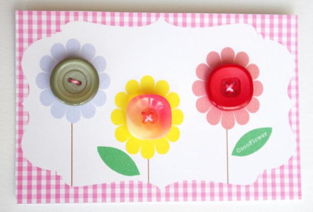 #fleurs #bouton #vintage plastique www.CocoFlower.net