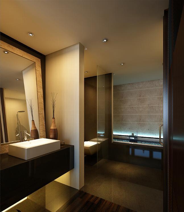 Axioma arquitectura interior proyecto axioma vivienda en - Banos con paredes pintadas ...