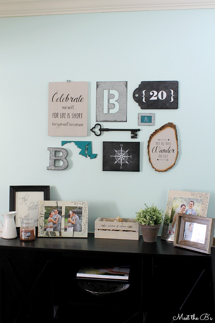DIY Modern Industrial Collage Wall- Sources & How Tos