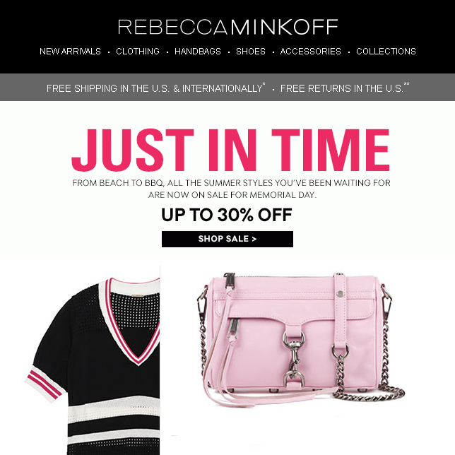 http://www.rebeccaminkoff.com/shop/sale.html?utm_source=Rebecca+Minkoff+Newsletter&utm_campaign=2d9475e51c-MDW_Sale___5_22_14&utm_medium=email&utm_term=0_c7ad6a09be-2d9475e51c-229584333