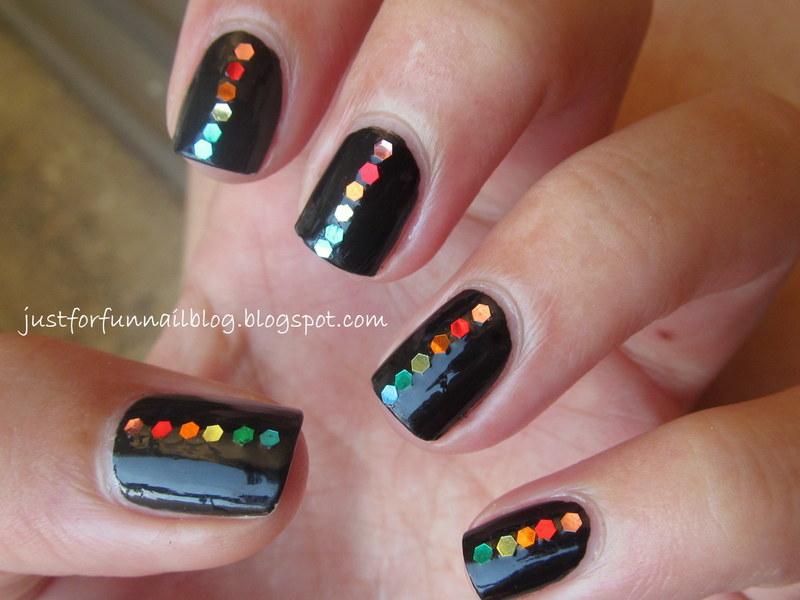 31DC2013 Day 9 - Rainbow: black & rainbow sequins :)