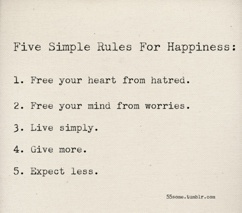 quotation happiness rules