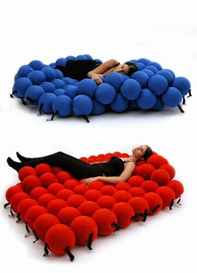 Innovative molecular bed cum sofa design
