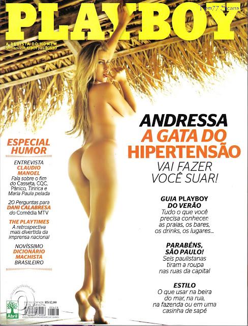 Confira as fotos da gata do Hipertenção, Andressa Ribeiro, capa da Playboy de janeiro de 2011!