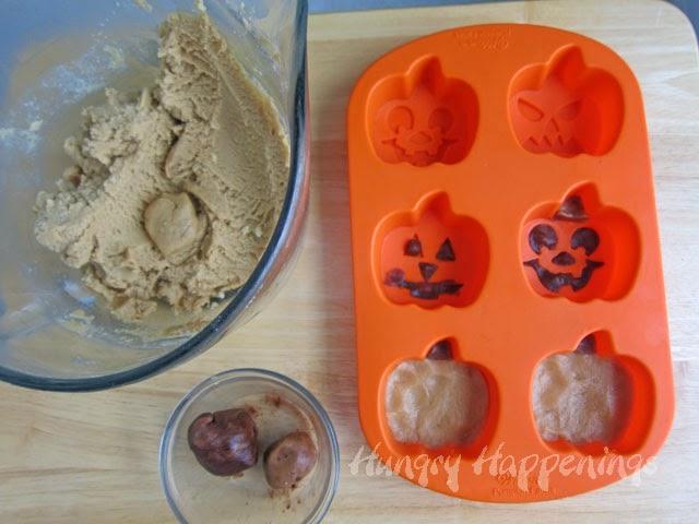 Chocolate Peanut Butter Jack-O-Lantern Cookies Recipe — Dishmaps