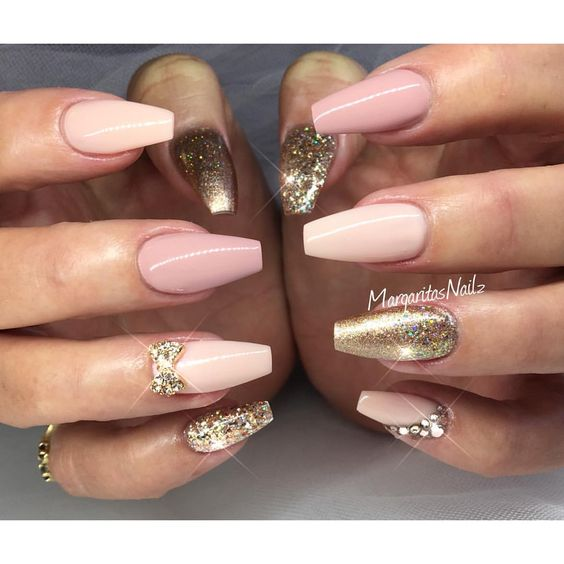 Stunning Rose Gold Nails! - OMG Love Beauty!