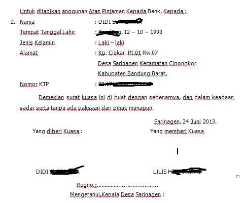 surat kuasa atas tanah