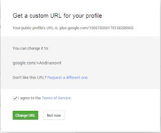 Cara mengubah url (link) profil google plus.
