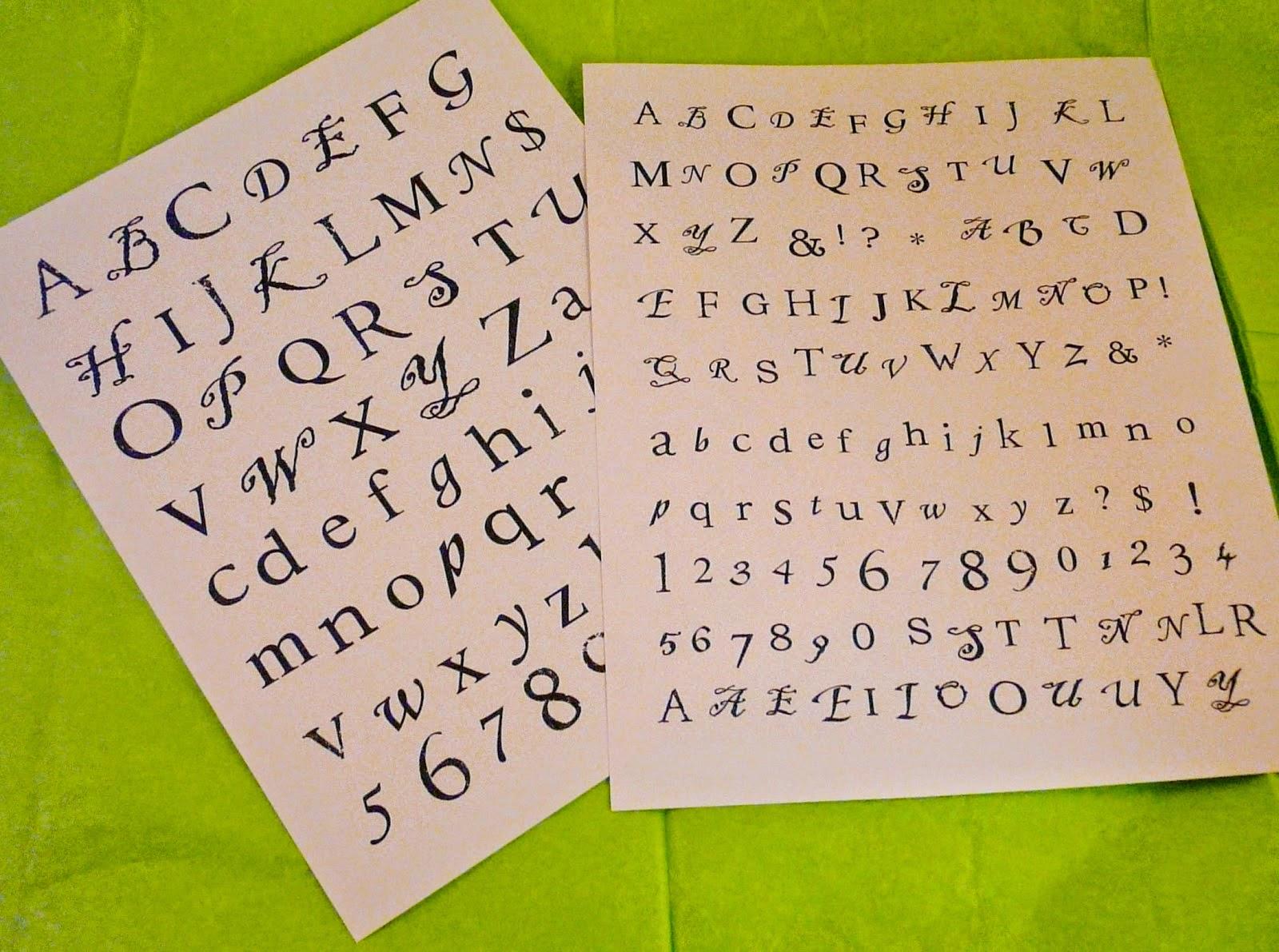 Free Alphabet letters