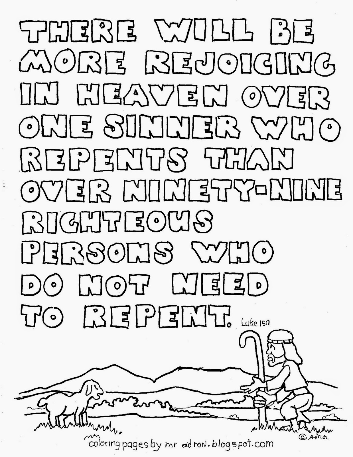 coloring pages luke 7 - photo#29