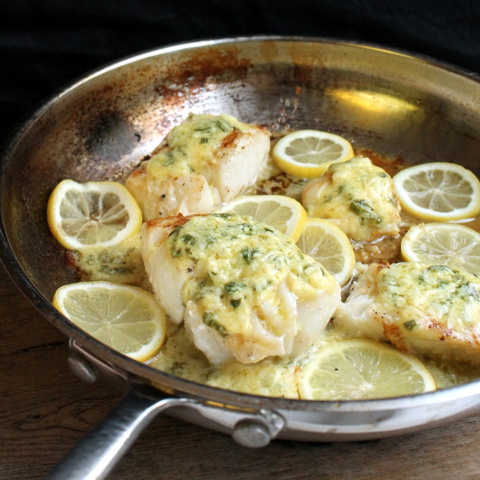 Cod With Sage Garlic Butter Recipe — Dishmaps