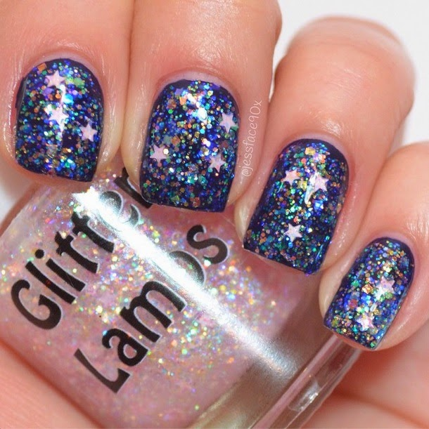 Cotton Candy Satin Fingernail Polish: Glitter Lambs- Nail Polish, DIY, Beauty, Makeup And