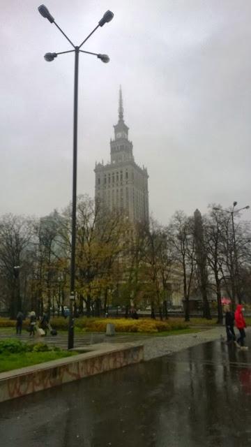 W Warszawie..... padało i mało widziałam ....