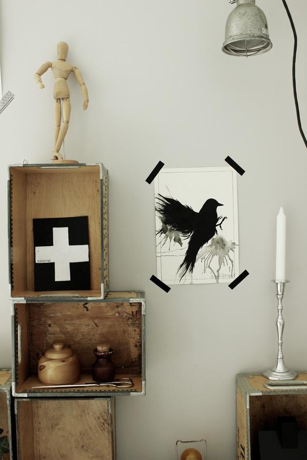 artprint fågel, svart fågel, print fågel, tavlor i svart och vitt, tips på tavlor, poster i svartvitt, svarta och vita tavlor, coola prints, poster bird, black bird,
