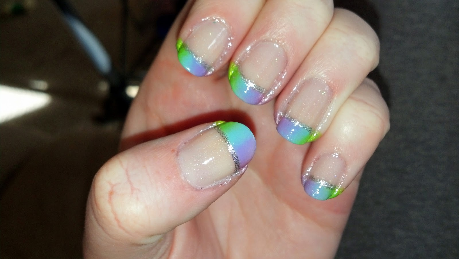 The Nail Diaries Rainbow French Tips