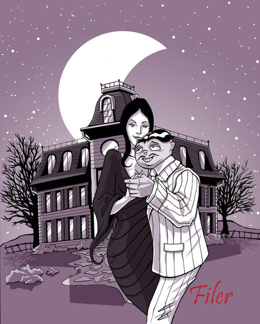 Gomez and Morticia Addams por Flyler