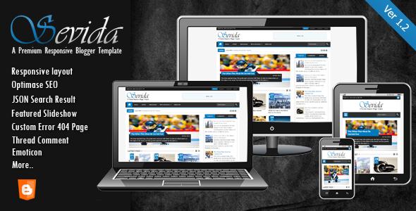 Sevida Blog Templates Responsive